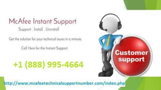 McAfee technical support number  +1 (888) 995-4664