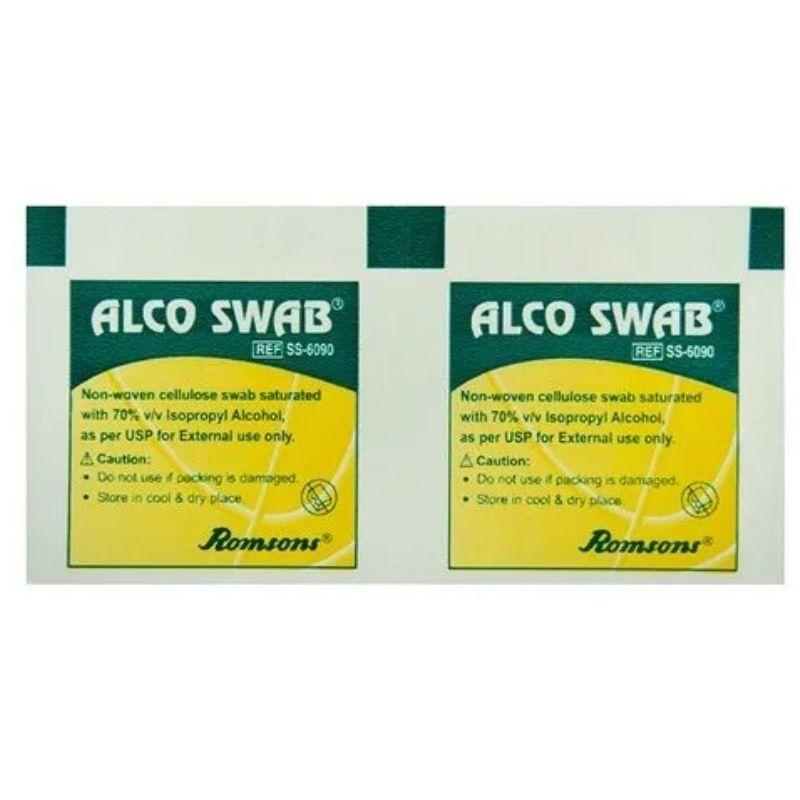 Romsons Alcohol Swabs Box 100 | Hospital Grade Chemicals