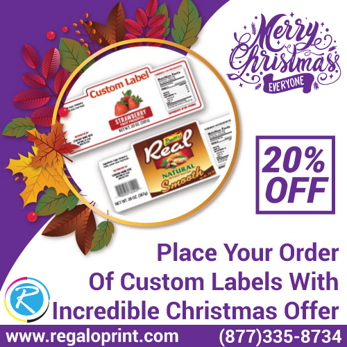 Place Your Order Of Custom Labels With Incredible 20% Christmas Discount