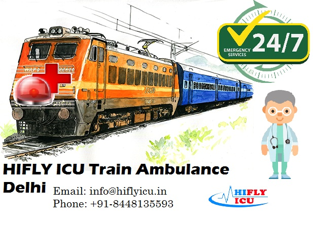 Avail Life-Saving Train Ambulance Services in Delhi by HIFLY ICU