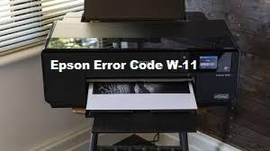 How to Fix Epson Error Code W-11