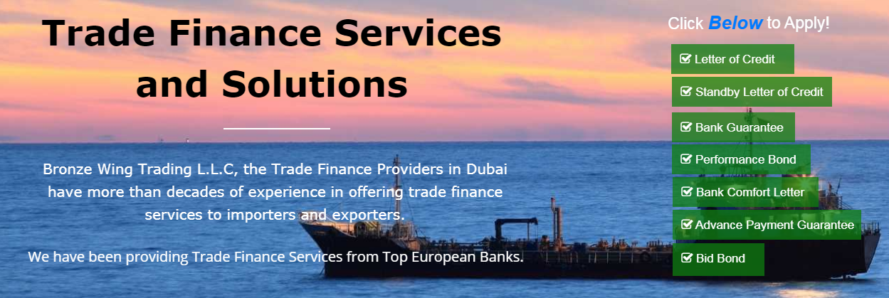 Trusted Trade Finance Providers in Dubai