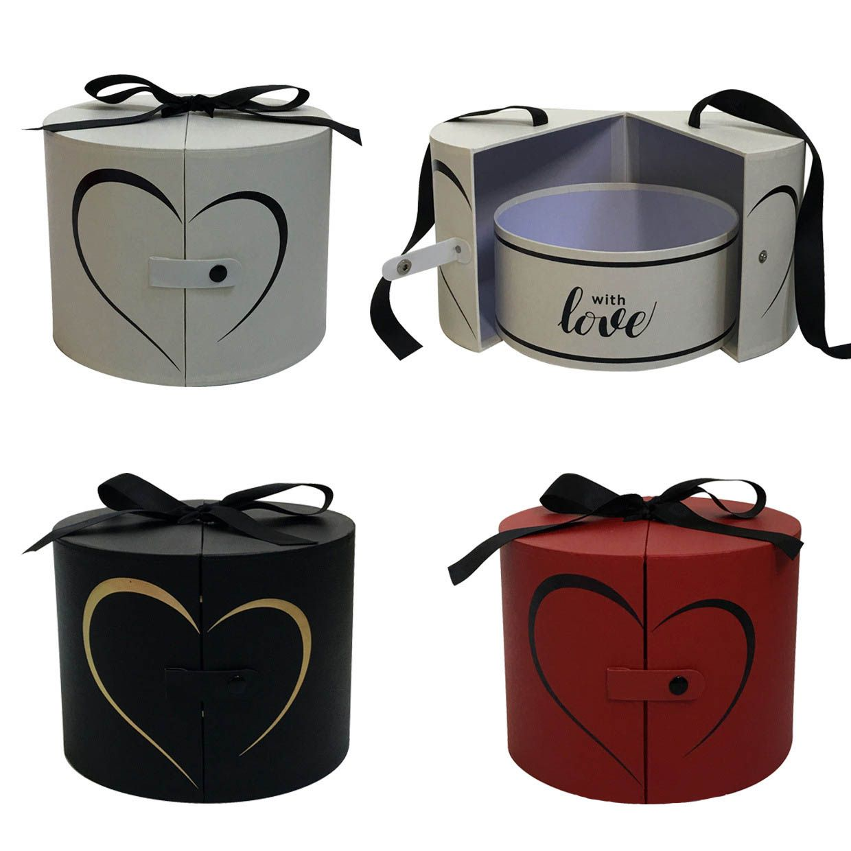 Round boxes help to take your products very nicley