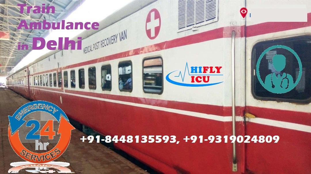 Provides Fastest Train Ambulance Service from Delhi by HIFLY ICU