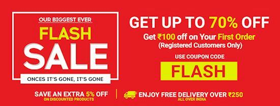 Up to 70% + Flat 5% Off Flash Sale Online | Best Shopping Offers