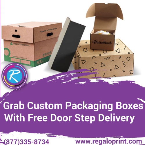 Grab Custom Packaging Boxes With Free Door Step Delivery – RegaloPrint