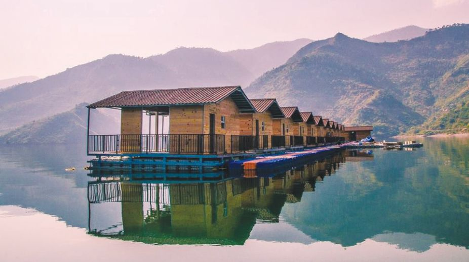 Tehri Lake Houseboat Booking Open | Book Now Tehri Floating Huts Tour Package
