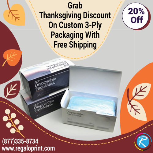Grab Thanksgiving Discount On Custom 3-Ply Packaging With Free Shipping