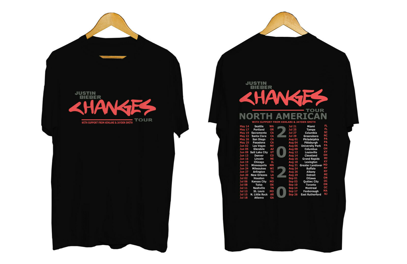 changes justin bieber 2020 tour t shirt