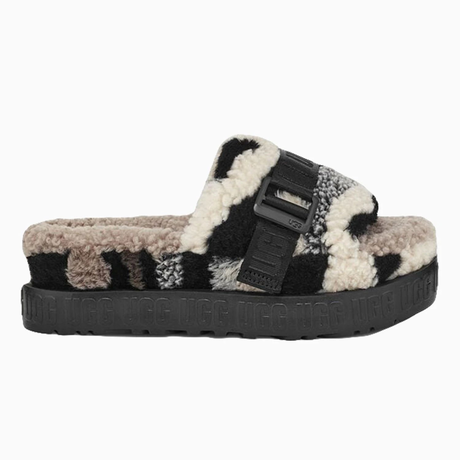 UGG Womens Fluffita Cali Collage Slide