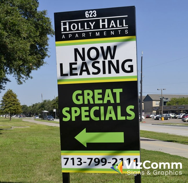Commercial Real Estate Signs by VizComm in Fountain Valley, CA