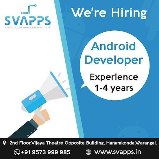 Urgent Hiring for Android App Developers