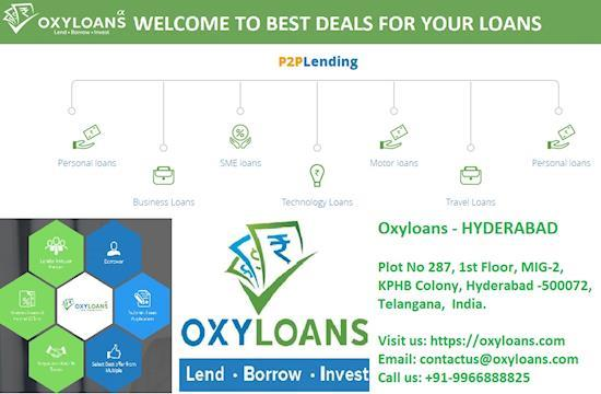 Oxyloans Online Peer-to-Peer Lending & Borrowing, Personal Loans, Technology Loans, SME Loans in hyderabad
