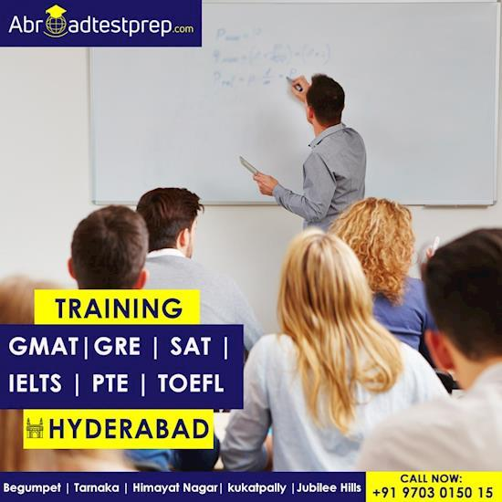 GRE, GMAT, TOEFL, IELTS, PTE and SAT Coaching Classes at Hyderabad