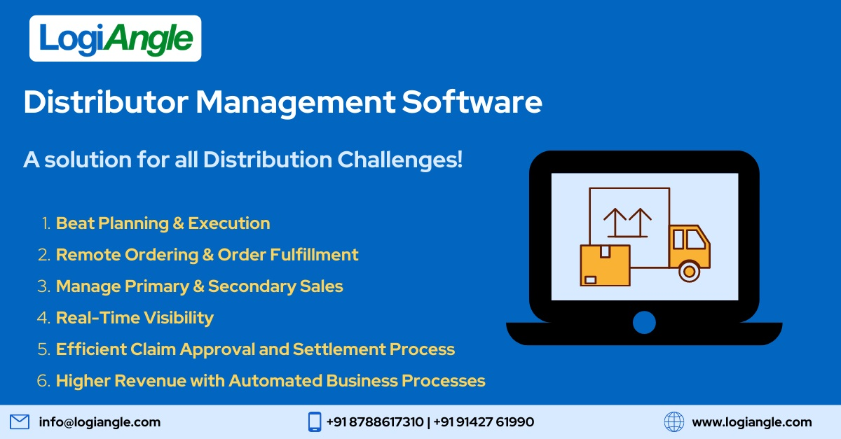 SAAS Based Distributor Management Software: LogiAngle