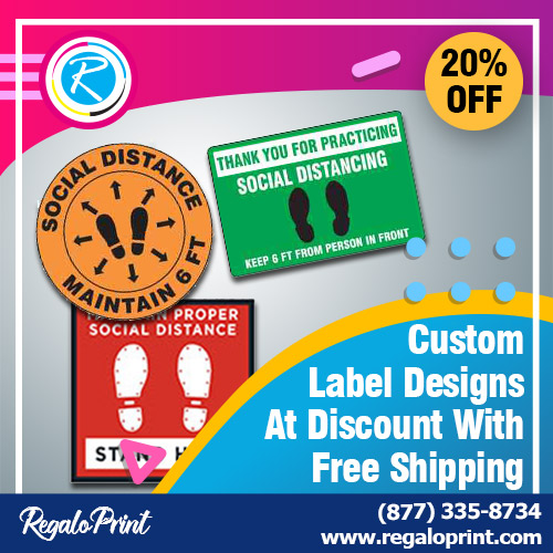 Custom Label Designs At 20% Discount With Free Shipping - RegaloPrint