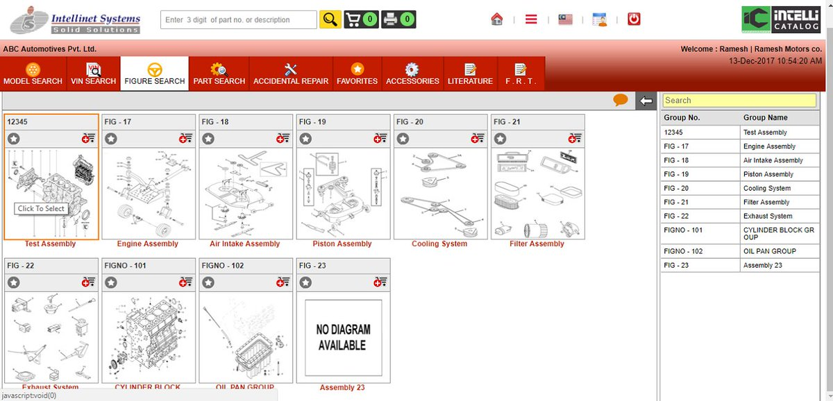 OEM Parts Catalogue Software