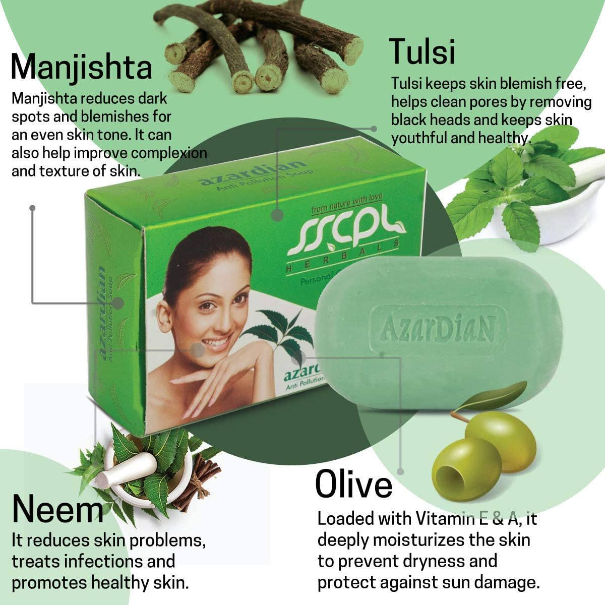 5 amazing skin  benefits sscpl herbals azardian soap with neem and tulsi