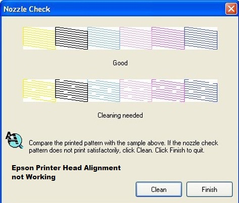 Why Epson Printer Head Alignment not Working