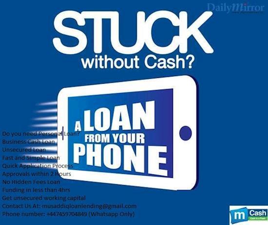 We are registered finance lender