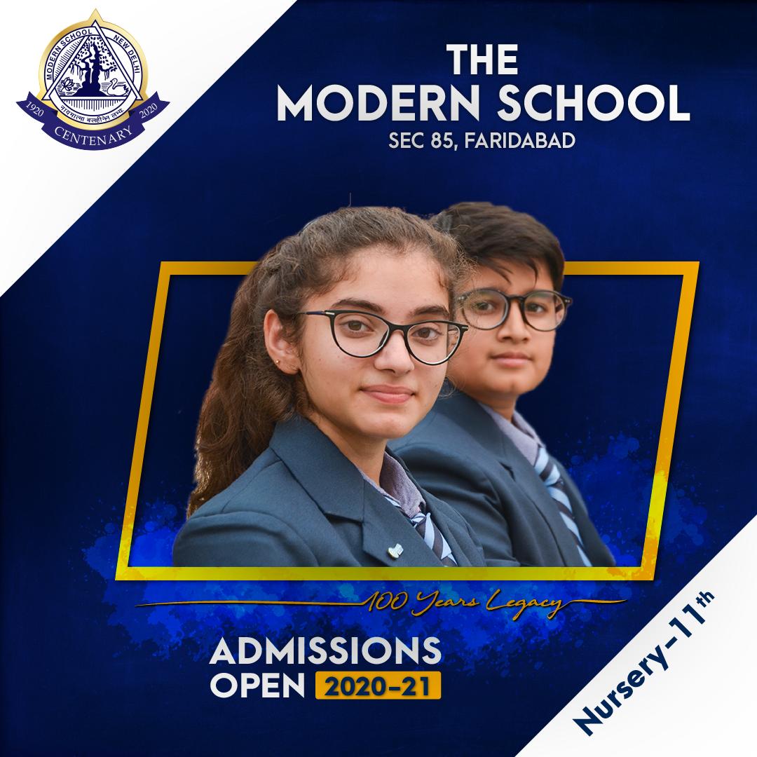 Modern School, Faridabad - Admission Open
