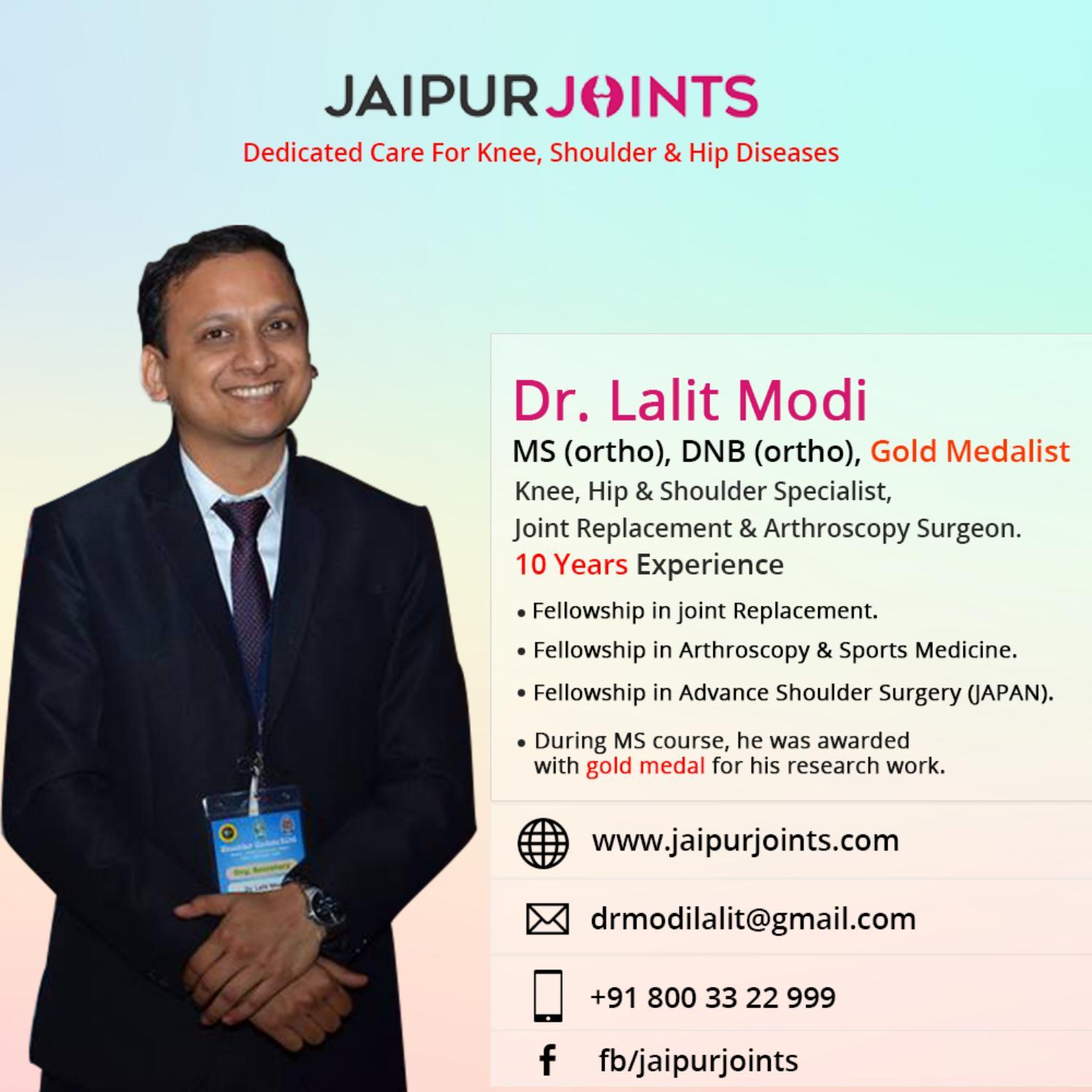 Best Orthopedic Surgeon in Jaipur   Dr. Lalit Modi