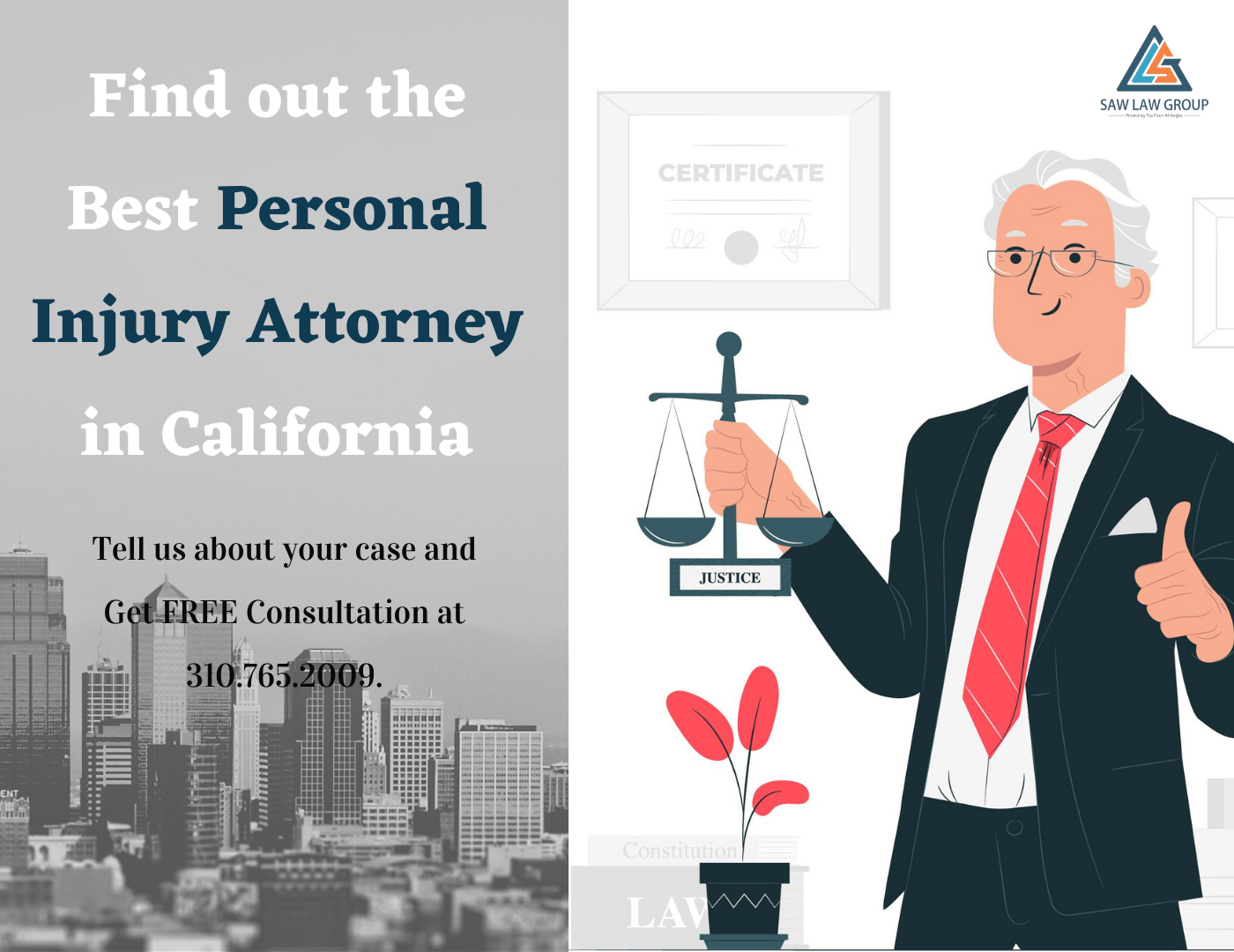 Get the Best Personal Injury Attorney in California - Saw Law Group LLP