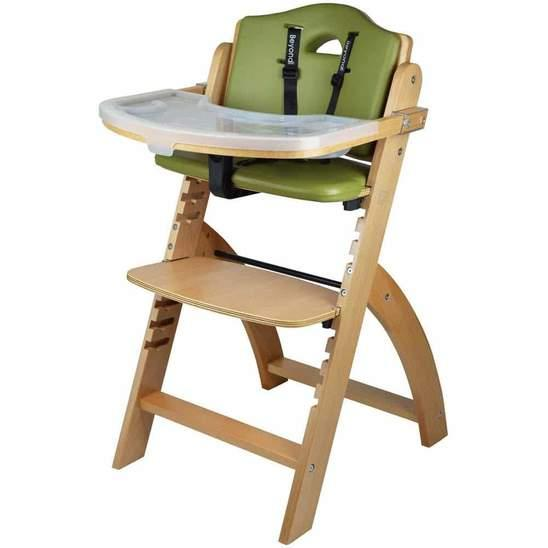 Abiie's Wooden High Chair with Safety Belt for Your Baby