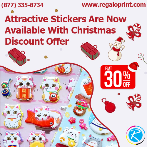 Attractive Stickers Are Now Available With 30% Christmas Discount Offer