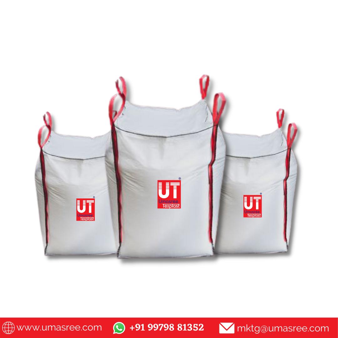 Get Standard 4 Loop FIBC Bags for Construction Industry - Umasree Texplast