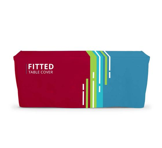 Improve your branding and visibility with custom fitted table covers