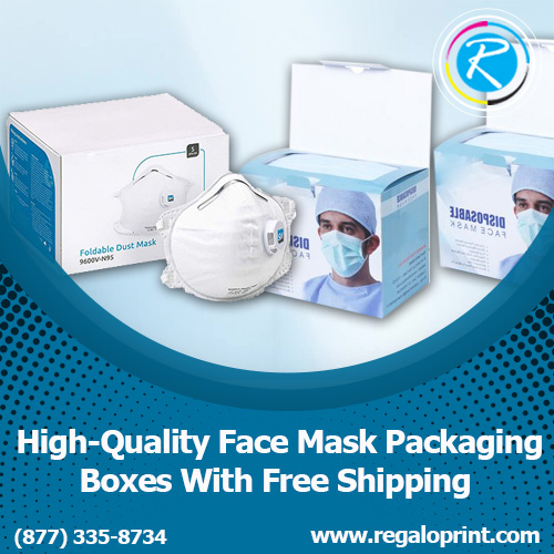 High-Quality Face Mask Packaging Boxes With Free Shipping – RegaloPrint