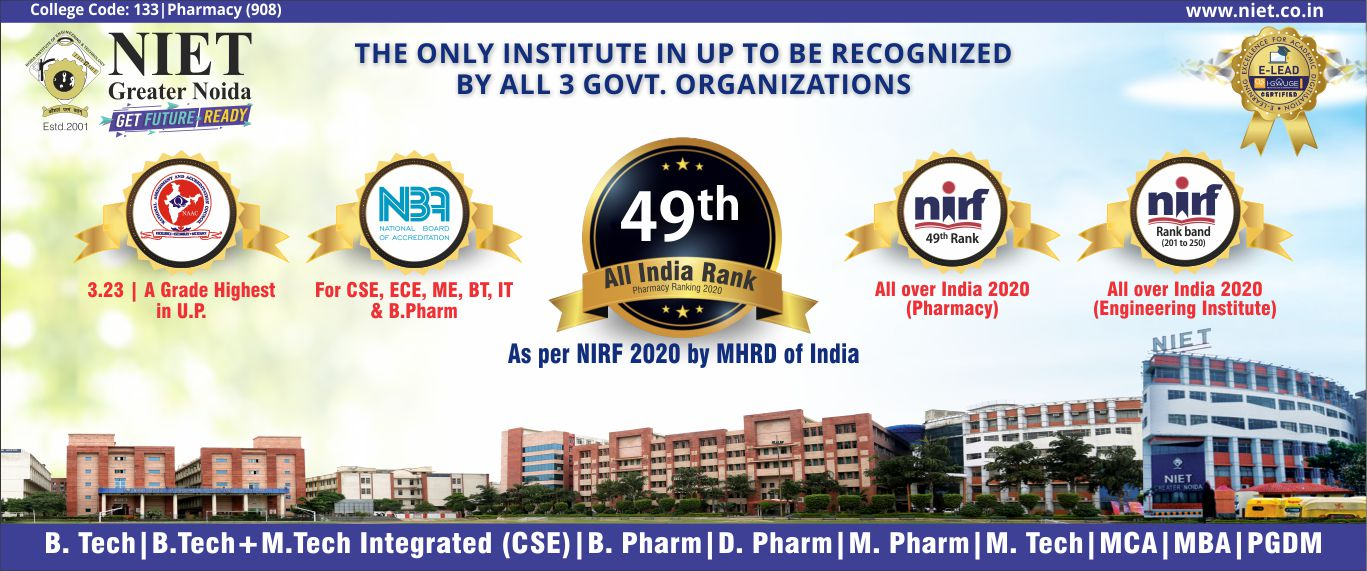 Best Engineering College Delhi NCR- NIET Gr. Noida