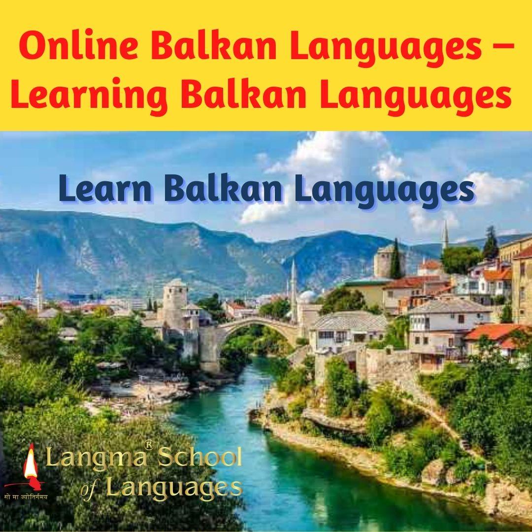 Online Balkan Languages – Learning Balkan Languages
