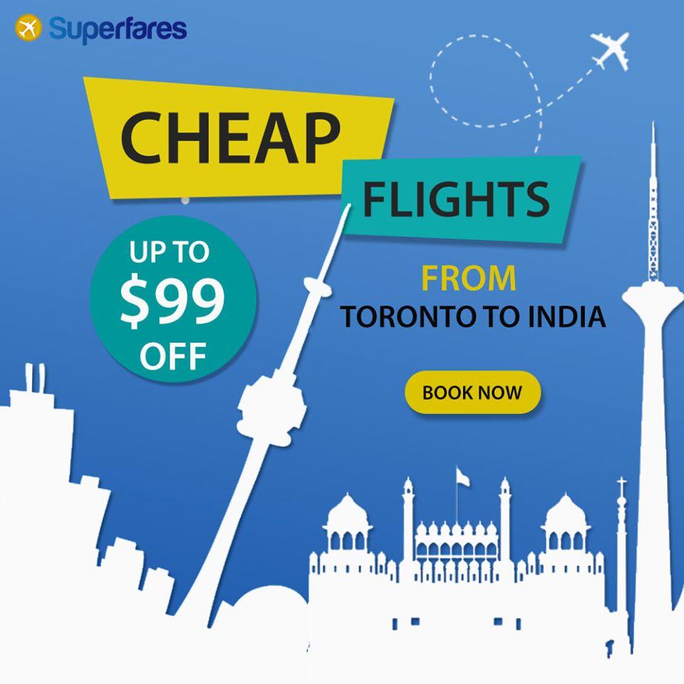 Get Toronto to Kolkata flights