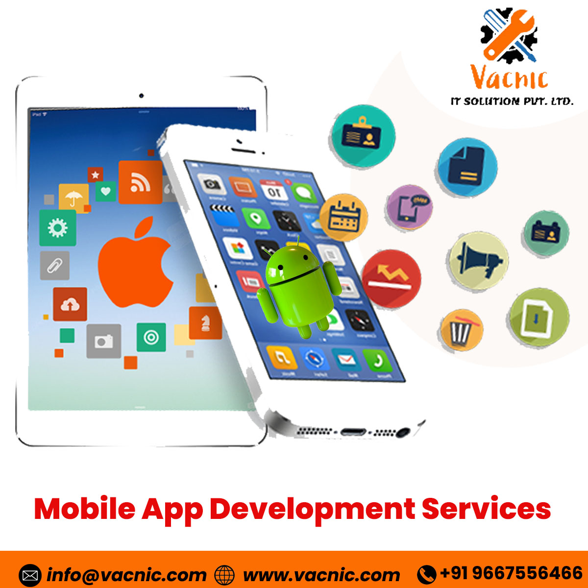 Custom App? Connect with Top App Development Services Agency in Delhi NCR/ Noida! Vacnic IT Solution