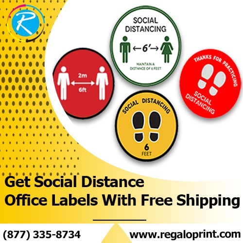Get Social Distance Office Labels with Free Shipping – RegaloPrint