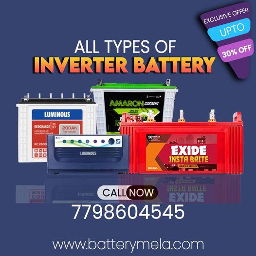 Buy your Inverter Battery in pune at batterymela.com