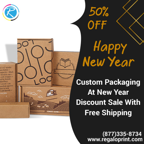 Custom Packaging At 50% New Year Discount With Free Shipping