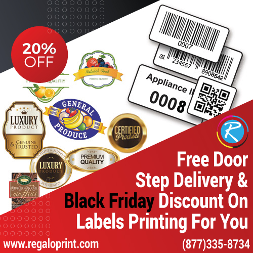 20% Black Friday Discount & Free Door Step Delivery On Labels Printing For You