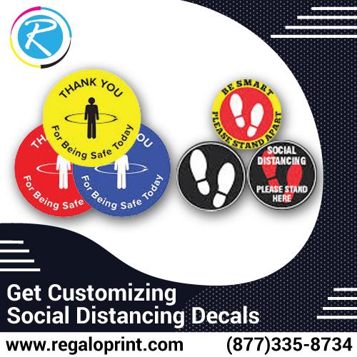 Get Customizing Social Distancing Decals – RegaloPrint