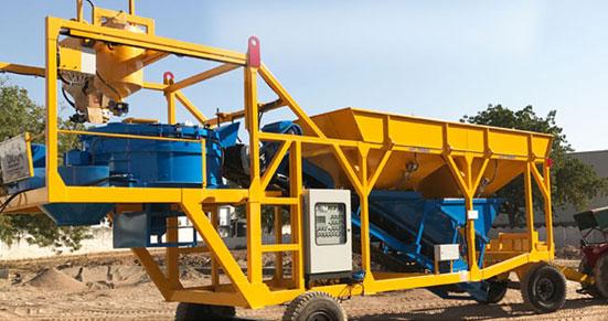 Compact Design Mobile Concrete Batching Plant Manufacturer