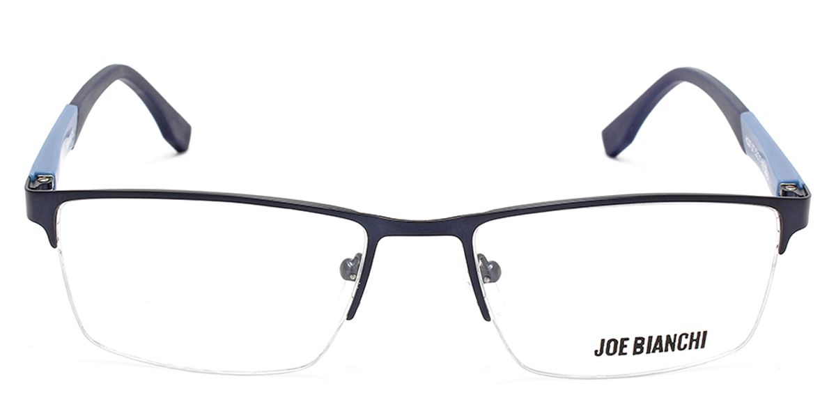 Rectangle Eyeglass for Men Blue Front with Dark Blue & Blue Temples