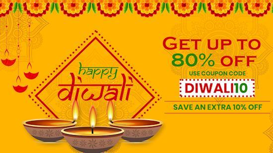 Diwali Dhamaka Offer & Discount Up to 80% + Extra 10% Off