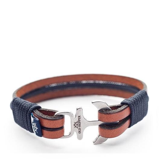 Men's leather bracelets - Old Skipper
