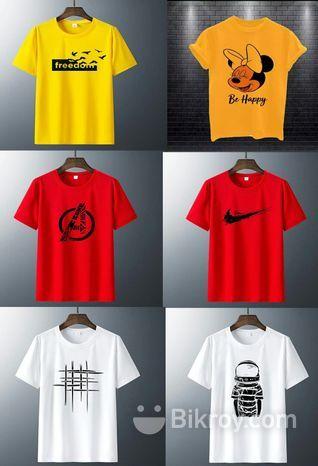 Half sleeve T-shirt for men combo offer(pack of 6)CM-0016