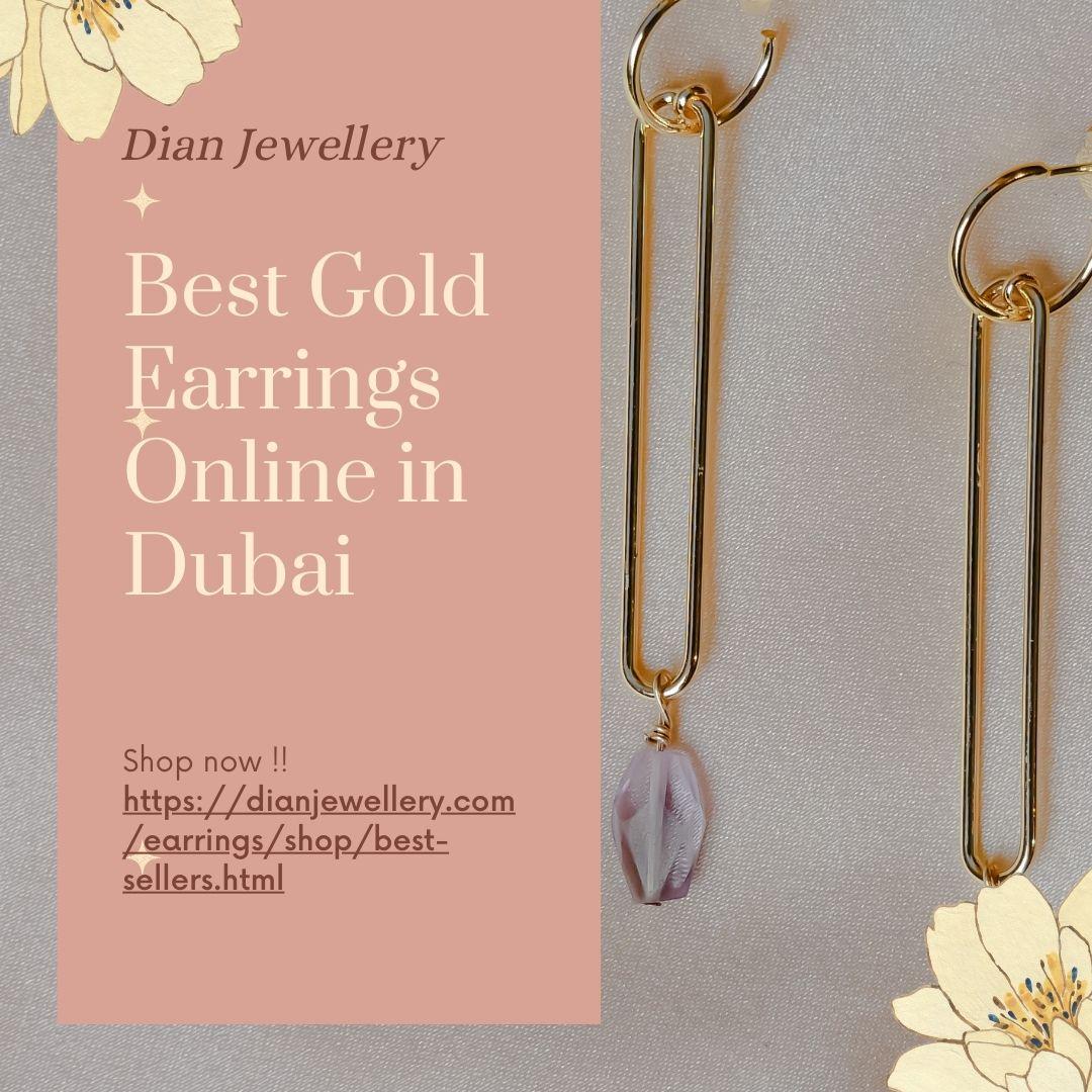 Best Gold Earrings Online in Dubai | Free Delivery!