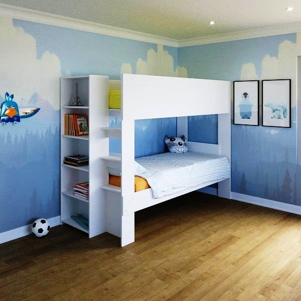 Fitting Furniture Offers Kids Loft Bed with Desk for Compact Spaces