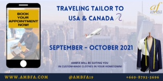 Bespoke Tailor Travelling to USA & Canada 2021
