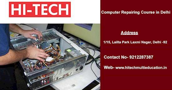 Hi Tech is Presenting Awesome Computer Repairing Course in Delhi